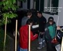 Der Beweis: Bodolzer mit der Motorsäge am Schandbaum